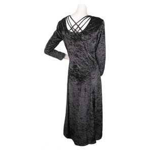 Jamie Brooke VINTAGE 90s Craft Black Velvet Dress